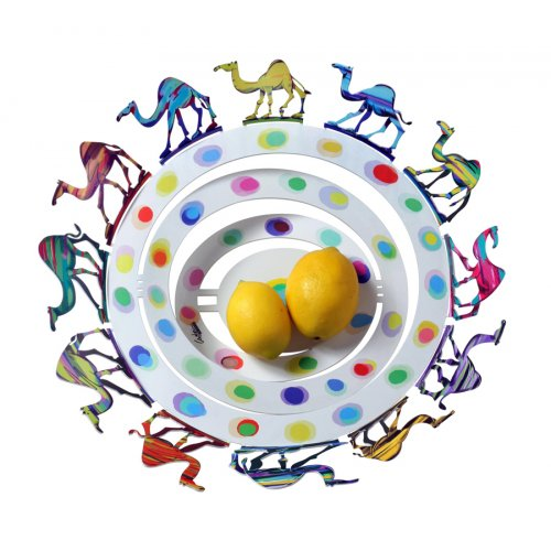 David Gerstein Laser Cut Fruit Bowl or Wall Decoration - Camels