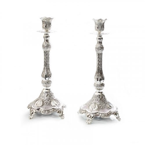 Decorative Ornate Filigree Design Candlesticks