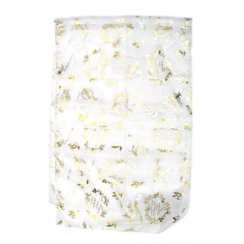 Delicate White Chiffon Head Scarf – Song of Songs Gold Design