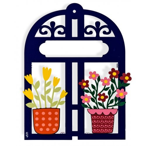 Dorit Judaica Colorful Door Decoration - Personalized Name Plaque