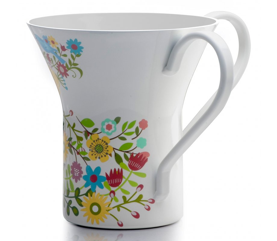 Dorit Judaica Netilat Yadayim Wash Cup Colorful Flowers