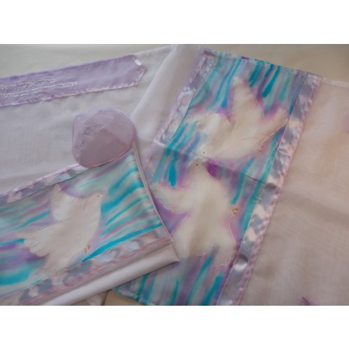 Dove of Peace Tallit Set by Galilee Silks