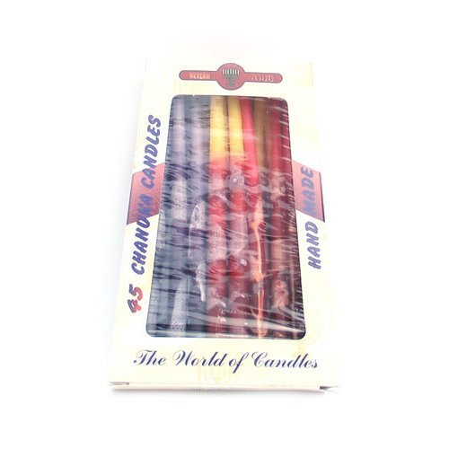 Dripless Hanukkah Candles - Colorful