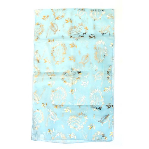 Elegant Chiffon Head Scarf - Song of Songs Gold Design