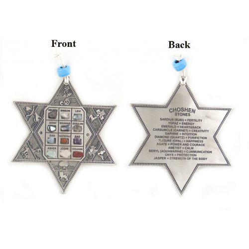English Pewter Star of David with Choshen Stones