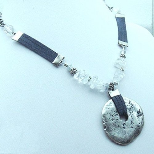 Eye Catching Pewter Necklace