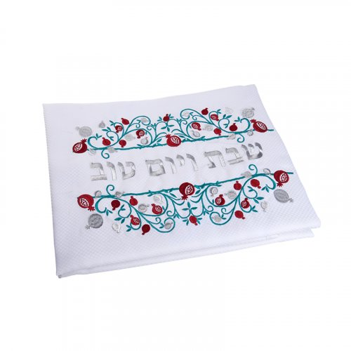Festive Shabbat and Holiday Tablecloth with Pomegranate Design