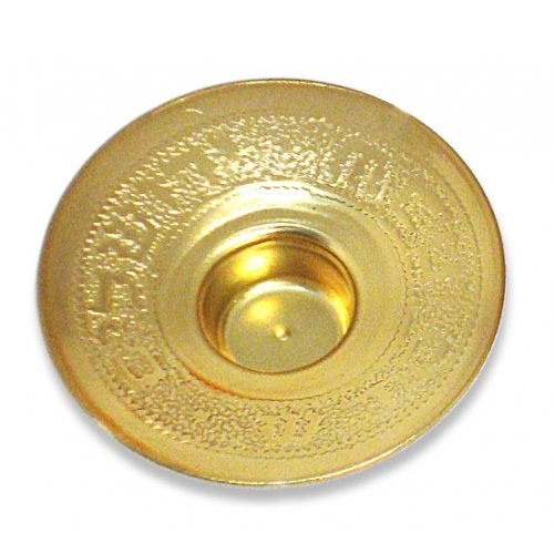 Gold Color Inscribed Brass Candle Inserts