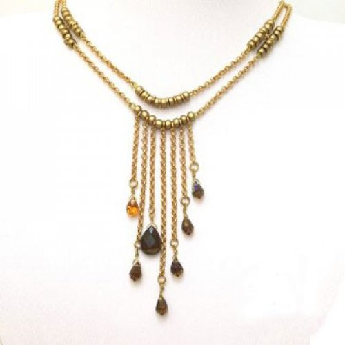 Gold Droplet Necklace by Edita
