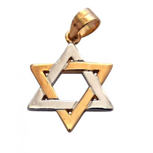 Gold Filled Classic Two Tone Star of David Pendant
