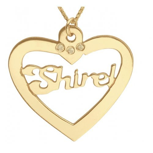 Gold Filled Heart English Name Necklace