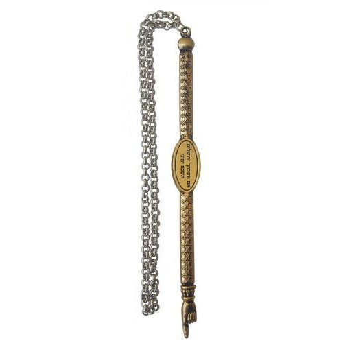 Gold Jerusalem Torah Pointer with Silver Chain