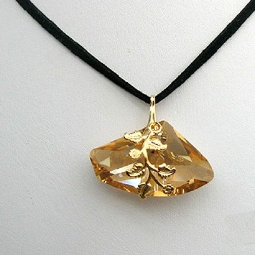 Gold Nugget Style Necklace by Edita