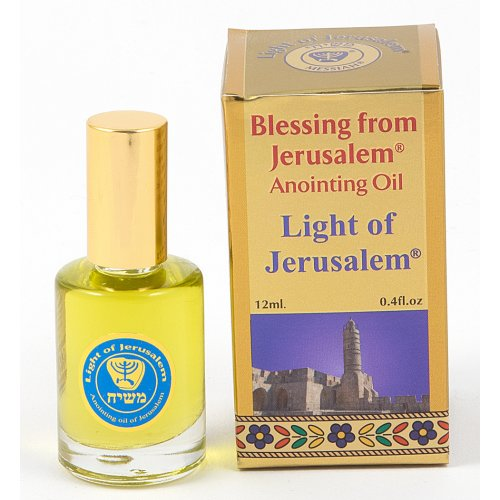 Gold Series Blessing from Jerusalem - Light of Jerusalem Anointing Oil 0.4 fl.oz (12ml)
