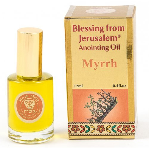 Gold Series Blessing from Jerusalem - Myrrh Anointing Oil 0.4 fl.oz (12ml)
