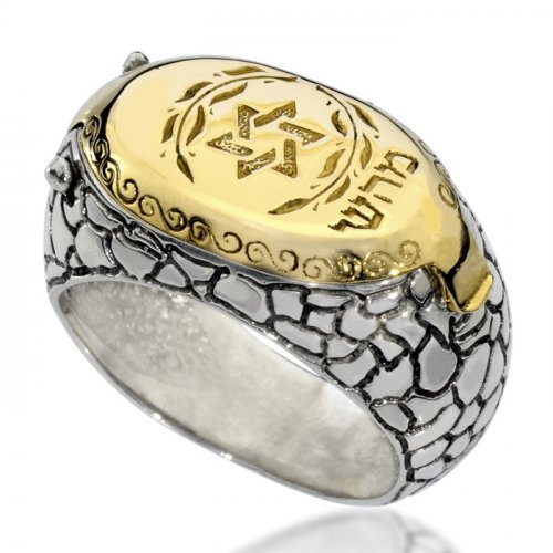 Gold and Silver Kabbalah Ring by HaAri