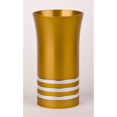 Gold-Silver Color Kiddush Cup by Agayof
