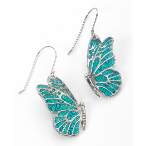 Green Butterfly Earrings SALE PRICE - 1 PAIR IN STOCK !!