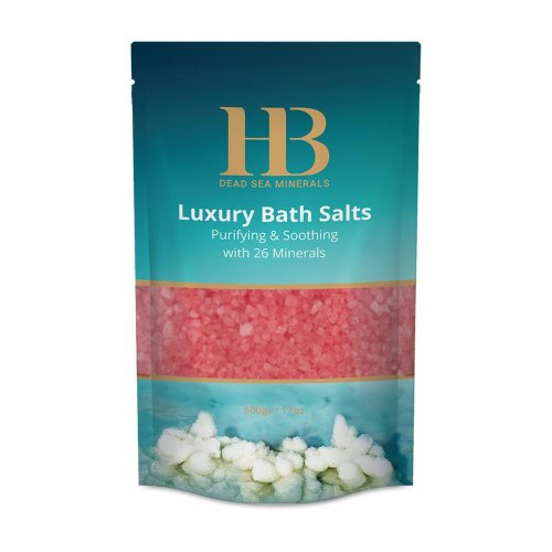 H&B Dead Sea Pink Bath Salts - Rose