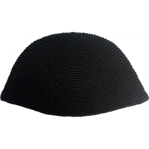 Hand Knitted Black Frik Kippah