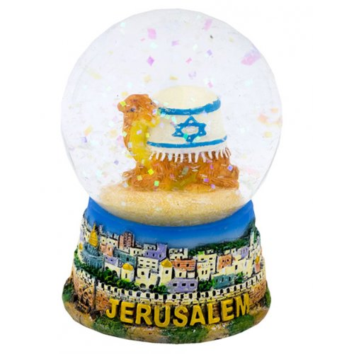 Israel Flag Camel Snow Dome Paperweight