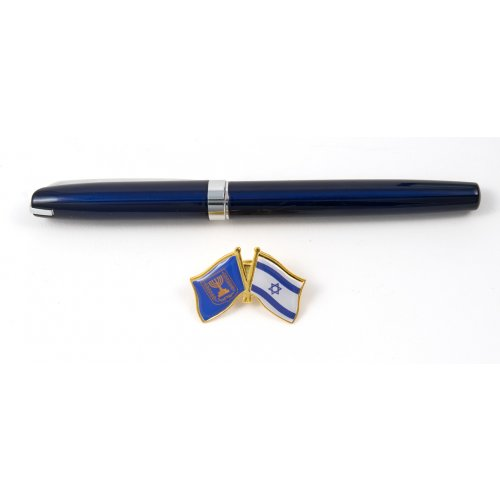 Israel-Knesset Flags Lapel Pin