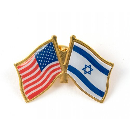Israel-USA Flags Lapel Pin
