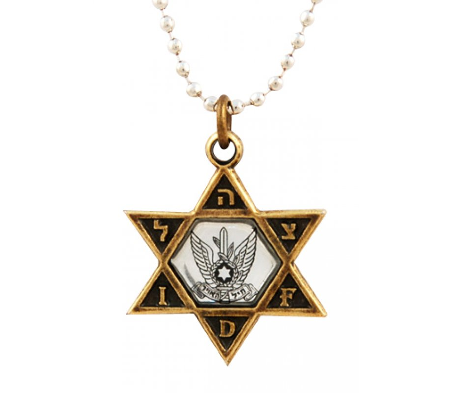 Israeli army star of david bronze pendant air force ajudaica israeli army star of david bronze pendant air force aloadofball Choice Image