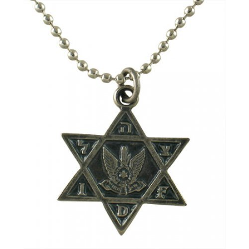 Israeli Army Star of David Metal Pendant - Air Force
