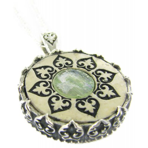 Jerusalem Stone Roman Glass Necklace