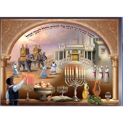 Laminated Colorful Wall Poster - Chanukah