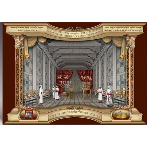 Laminated Colorful Wall Poster - View of Inner Temple with Kohen Priests