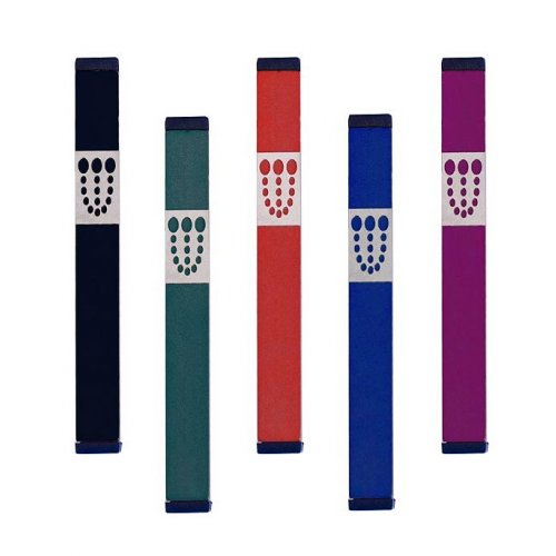 Large Dots Mezuzah By Agayof- Dark Colors
