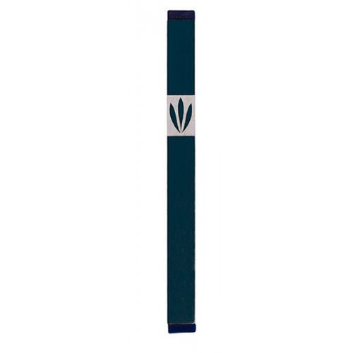 Large Leaves Mezuzah By Agayof- Dark Colors