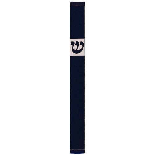 Large Traditional Mezuzah By Agayof- Dark Colors