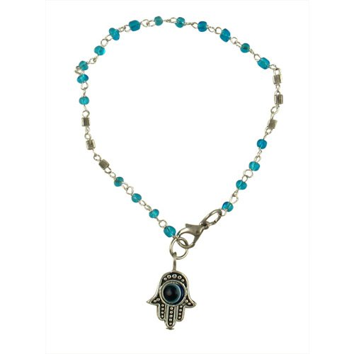 Light Blue bead Hamsa