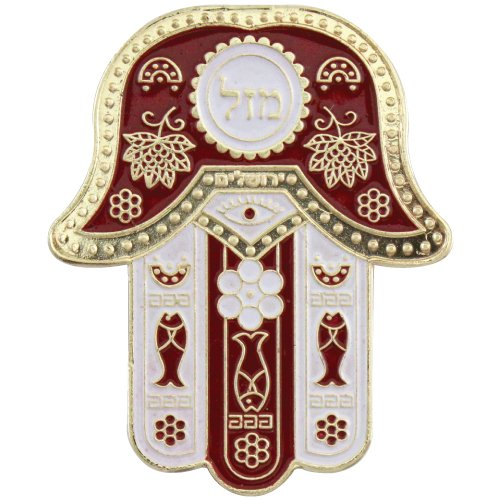 Metal Oriental Hamsa Mazal Magnet in choice of colors