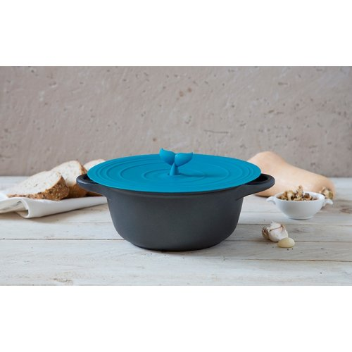 Mobylid Silicone Whale Pot and Dish Cover