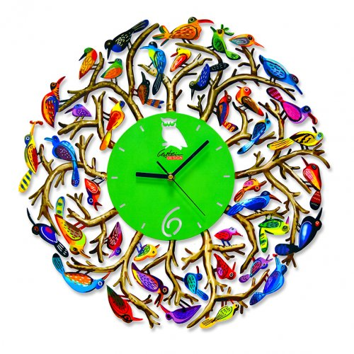 Nature Time Wall Clock by David Gerstein