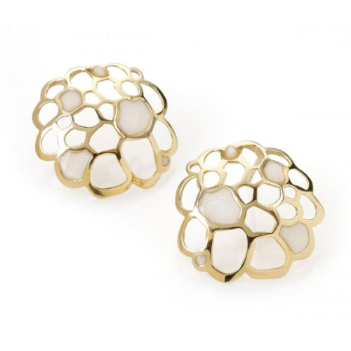 Pearl Colored Stud Earrings