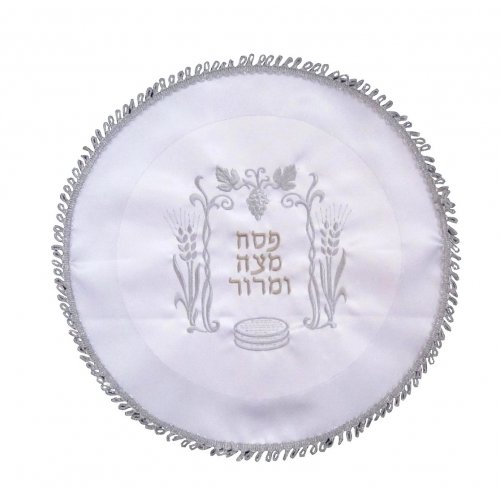 Pesach Matzah Cover with Grape and Wheat Design