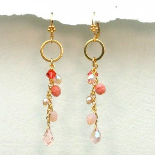 Pink Glamour Girl Earrings by Edita