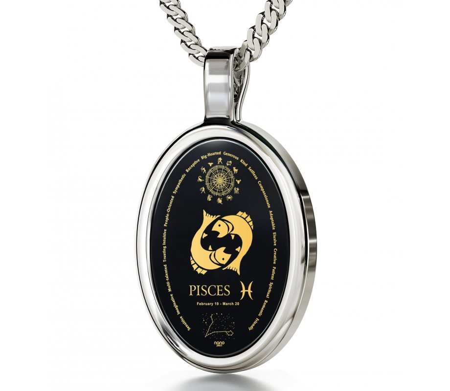 Pisces zodiac pendant by nano jewelry ajudaica pisces zodiac pendant by nano jewelry mozeypictures Images