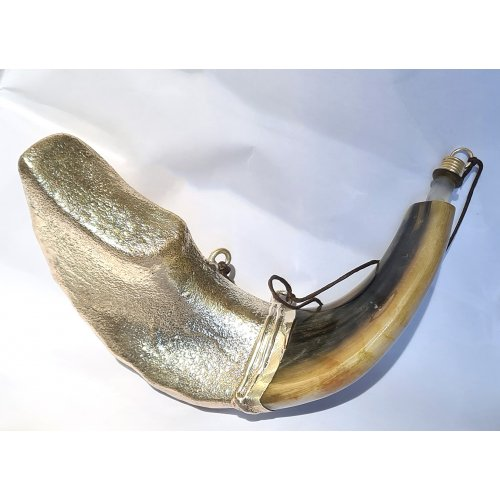 Rams Horn Shofar for Anointing Oil - Lions Jerusalem Design