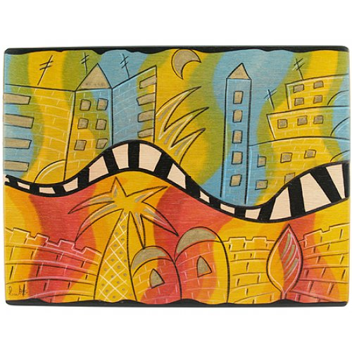 Rectangular Placemat O Jerusalem by Kakadu Art