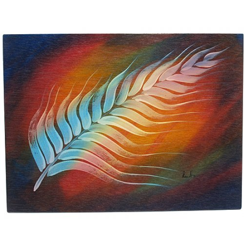 Rectangular Placemat White Plume by Kakadu Art