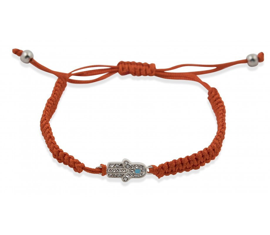 Red Braided String Hamsa Kabbalah Bracelet