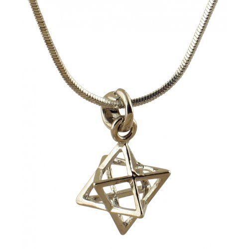 Rhodium Merkava Necklace