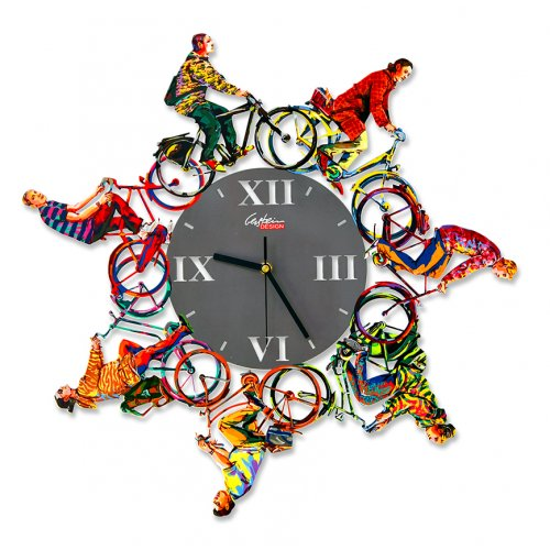 Riding Time Wall Clock by David Gerstein