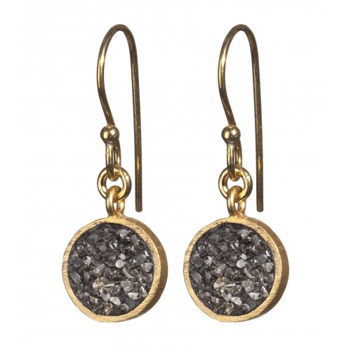 Rough Diamond Circle Earrings by Haya Elfasi